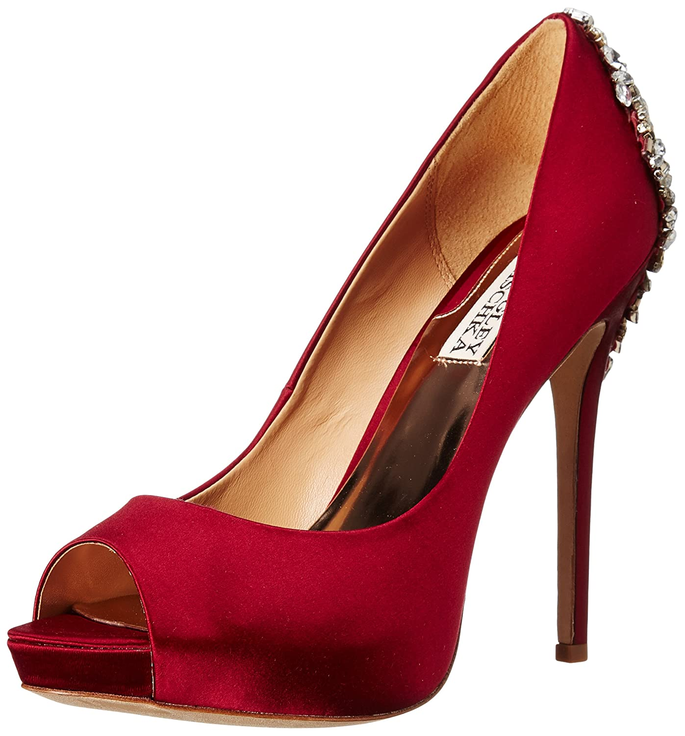 Badgley Mischka Women's Kiara Platform Pump B005BEYDX0 7.5 B(M) US|Red