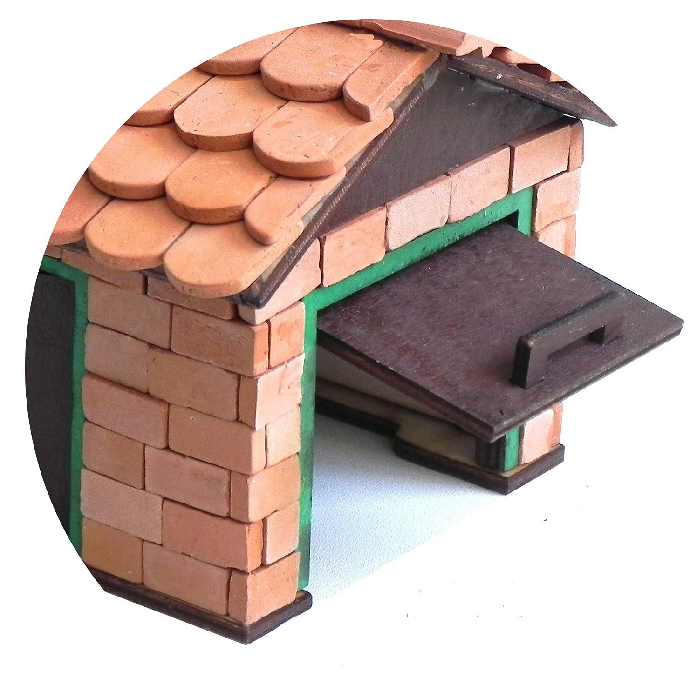 16x8x4mm 500 echte Ziegel, f/ür Modellbau ALEA Mosaik Backsteine Ziegel