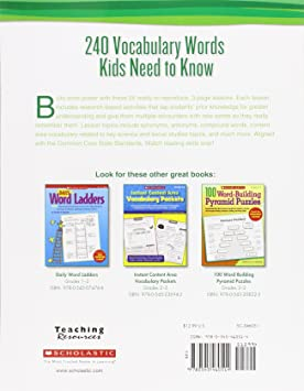 240 Vocabulary Words Kids Need to Know: Grade 2: 24 Ready-to ...