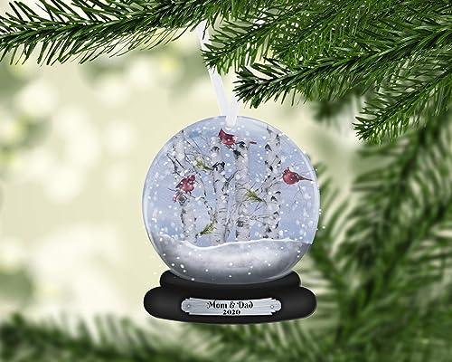 2020 Christmas Holiday Snowglobe Ornament Amazon.com: Cardinal Snow Globe Christmas Ornament, Personalized