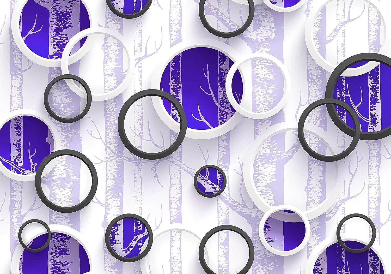 Wandmotiv24 Fototapete Grau Baum Kreise Ringe Abstrakt Abstrakt Abstrakt Wald Zweige M4065 XXL 400 x 280 cm - 8 Teile Wandbild - Motivtapete B07NF1CV5N Wandtattoos & Wandbilder 4f16f7