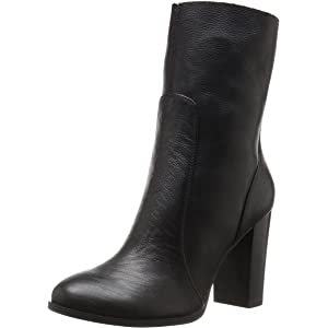 efaa58626aa Amazon.com  Steve Madden Women s Editor Ankle Boot Black Leather 9 M ...