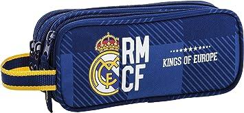 Real Madrid Estuche portatodo Triple (SAFTA 811724635), Color Azul, Uacutenica: Amazon.es: Juguetes y juegos