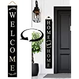 Tall Outdoor Welcome Sign for Porch - 2 Sided 5 ft Vertical Welcome Sign for Front Porch, Modern Farmhouse Decor for The Home
