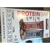 Kirkland Signature Protein Bar Variety Pack 20 Count Chocolate Peanut Butter Chunk & Cookies and Cream Gluten Free 21-22g of Protein 2g Sugar No Artificial Flavors Whey Protein Isolate