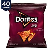 Doritos Spicy Nacho Flavored Tortilla Chips, 1 Ounce, 40 Count - Set of 2