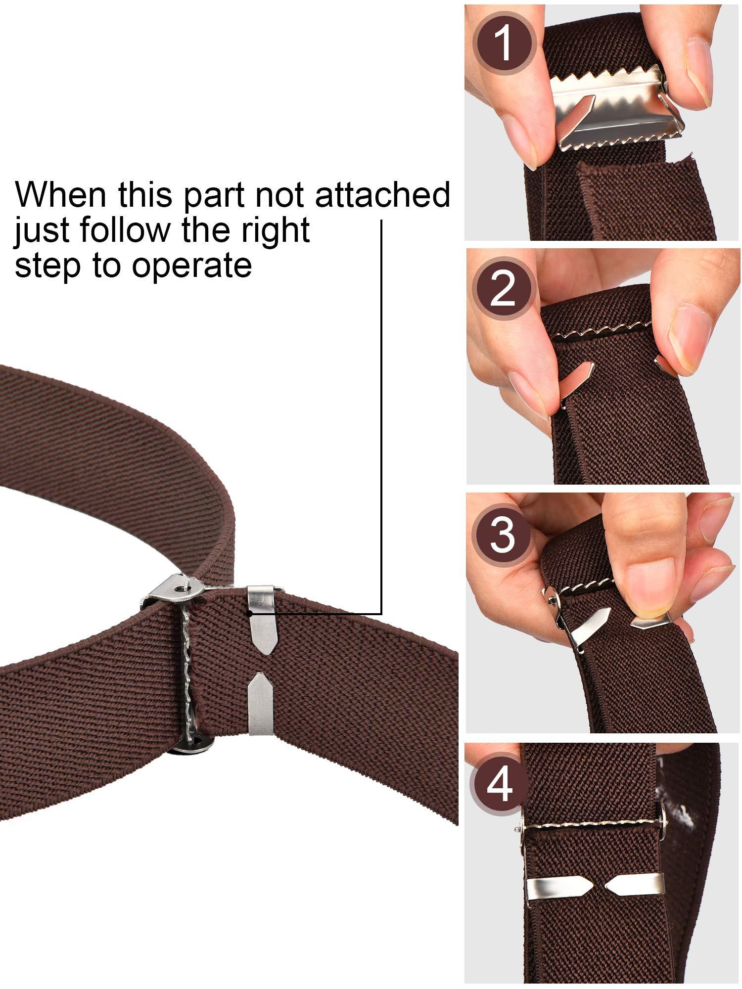 Tatuo 4 Pieces Kids Buckle Belt Kid Adjustable Elastic Belt Boy Stretch Belt for Children Favor (black, gray, brown, navy blue) by Tatuo (Image #5)