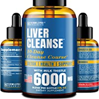 Liver Cleanse Detox & Repair Formula – Liver Support Dietary Supplement with Milk Thistle 6000 mg – Natural Liquid Detox – 10-Day Cleanse Course, 2 fl oz