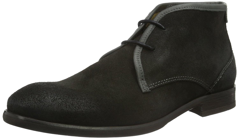 Hudson London Herren Lydon Suede Chukka Boots, Grau (Grey), 45 EU