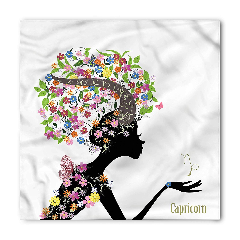 Soefipok Zodiaco Capricorn Bandana, Mujer Floral, Cabeza Unisex y ...