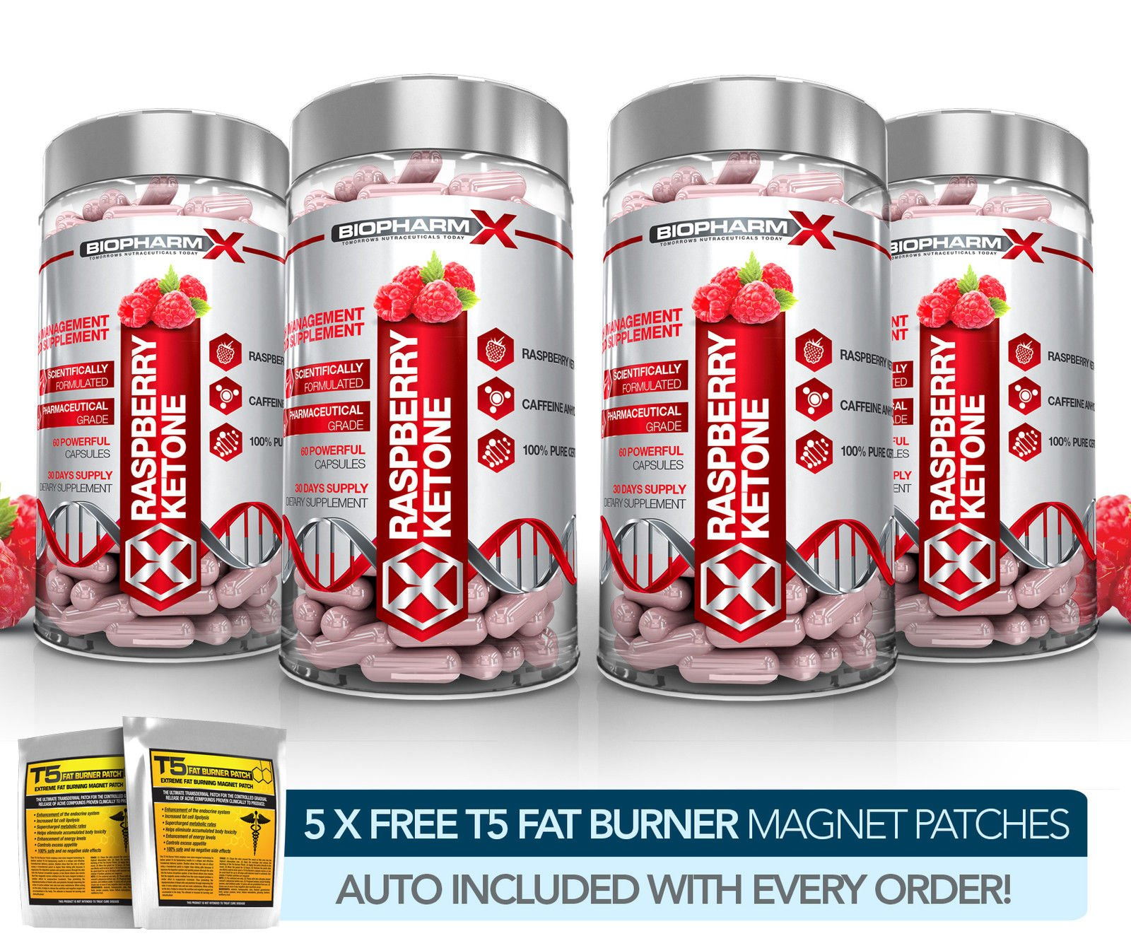 X4 100% PURE RASPBERRY KETONES - STRONGEST SLIMMING / DIET & WEIGHT LOSS PILLS