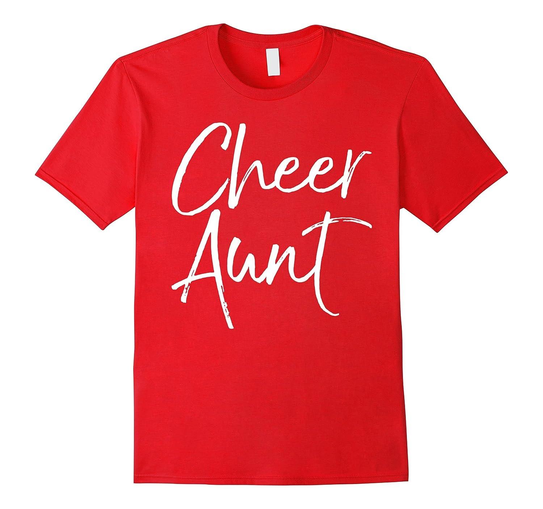 Cheer Aunt Shirt Funny Proud Cheerleader Auntie Tee- TPT
