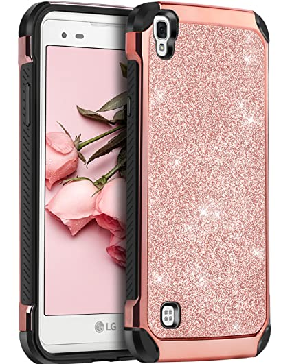 best service 4784e 80078 LG Tribute HD Case, LG X Style Case, LG Volt 3 Case,BENTOBEN Glitter Bling  Slim Hybrid Soft Rubber Hard Cover Sparkly PU Leather Protective Phone Case  ...