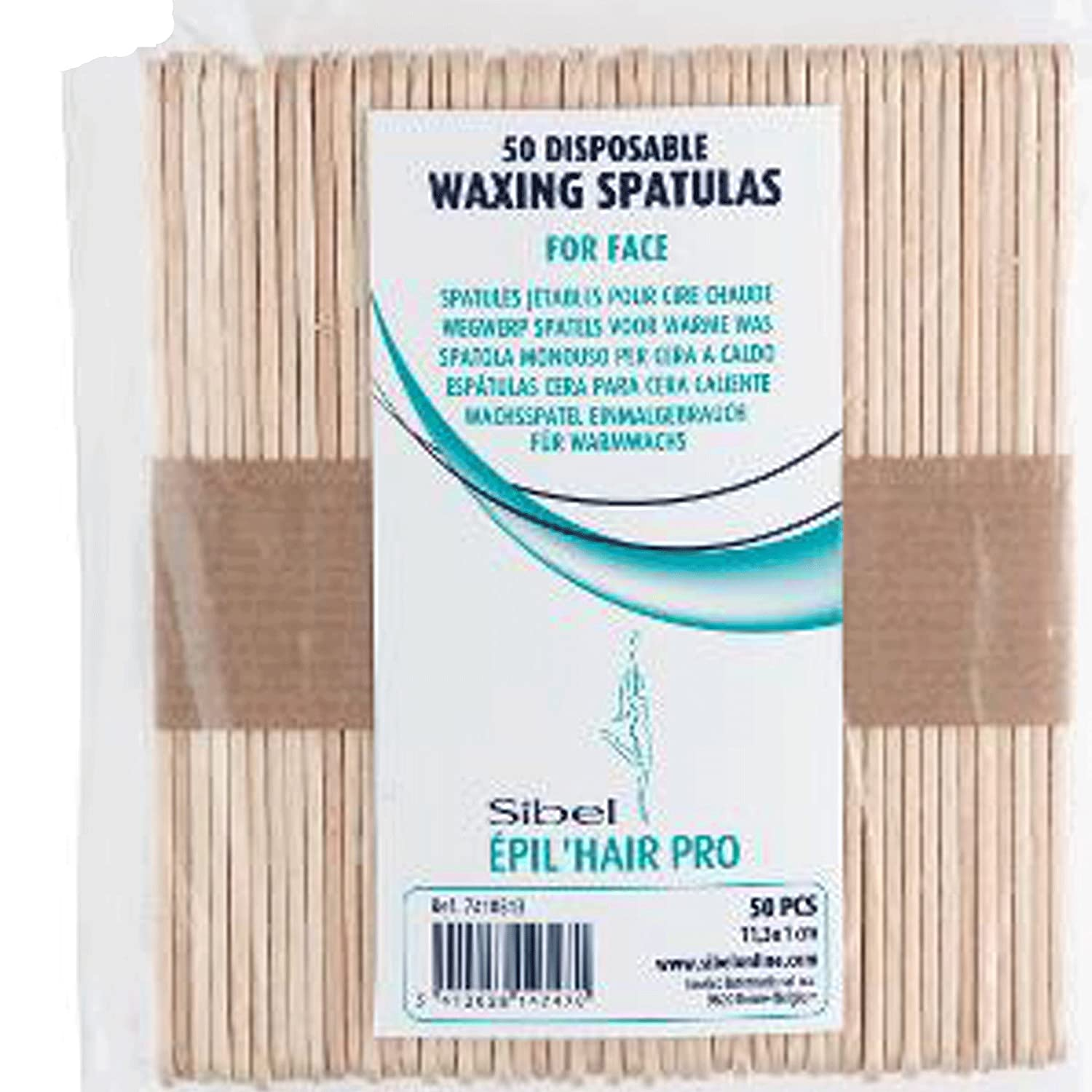 Disposable waxing spatula's For facial use - Pack of 50 Sibel SB7410513
