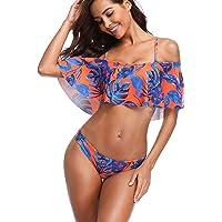 MEMORY BABY Donna Sexy Vita Alta Balze Capestro Bikini Set Due pezzi Costumi da bagno