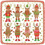 Entertaining with Caspari Entertaining Square Salad and Dessert Plates, Sweater Party, Pack of 8,Multicolored