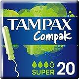 Tampax Compak Super Tampons Applicator - Pack of 20