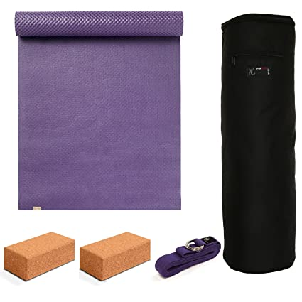 Yoga Studio - ecoYoga Starter Kit - Cork Bricks: Amazon.es ...