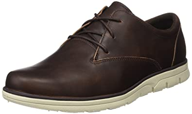 New MENS TIMBERLAND BROWN BRADSTREET PLAIN TOE OXFORD LEATHER SHOES