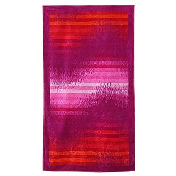 Toalla de playa 100 x 180 cm esponja terciopelo 380 g/m2 Sirolo ola Color Morado: Amazon.es: Hogar