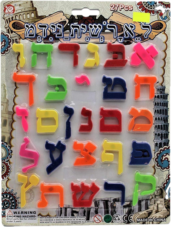 Body-Soul-n-Spirit Alfabeto Ebraico Magnetico Lettera di plastica Alef Bet ebraico Scuola ABC Divertimento per Bambini