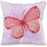 Amazon.com: Diamante Dotz azul cojín en forma de mariposa 5d ...