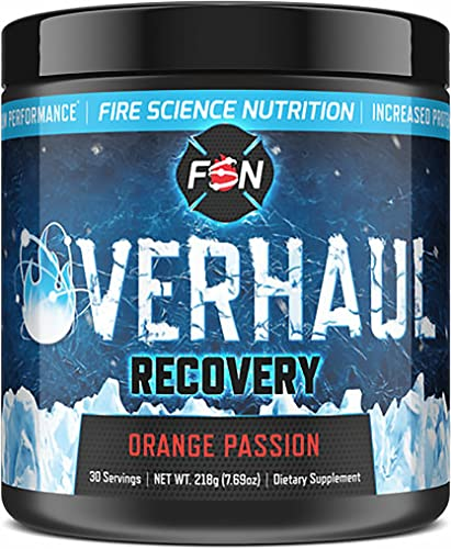 Fire Science Nutrition BCAA s give You Maximum Endurance, Extreme Recovery and Lean Muscle Reservation – Made in The USA – 30 Servings – Orange Passion