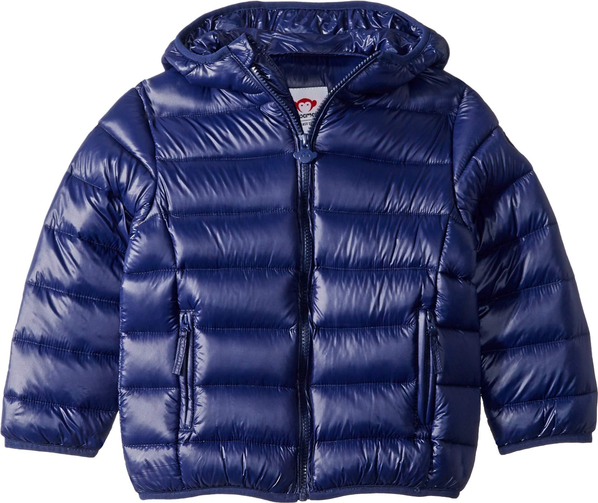 Appaman Kids Baby Boy's Extra Lightweight Packable Down Puffer Jacket (Toddler/Little Kids/Big Kids) Navy Blue 8