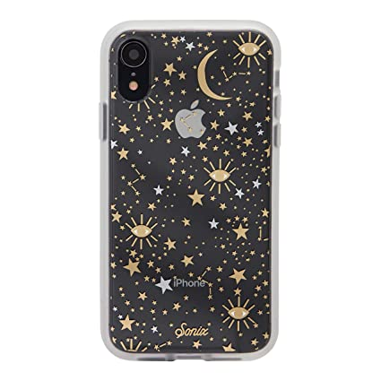 timeless design f662f 763db Sonix Cosmic (Gold, Silver, Stars) Cell Phone Case [Military Drop Test  Certified] Protective Clear Case for Apple iPhone XR
