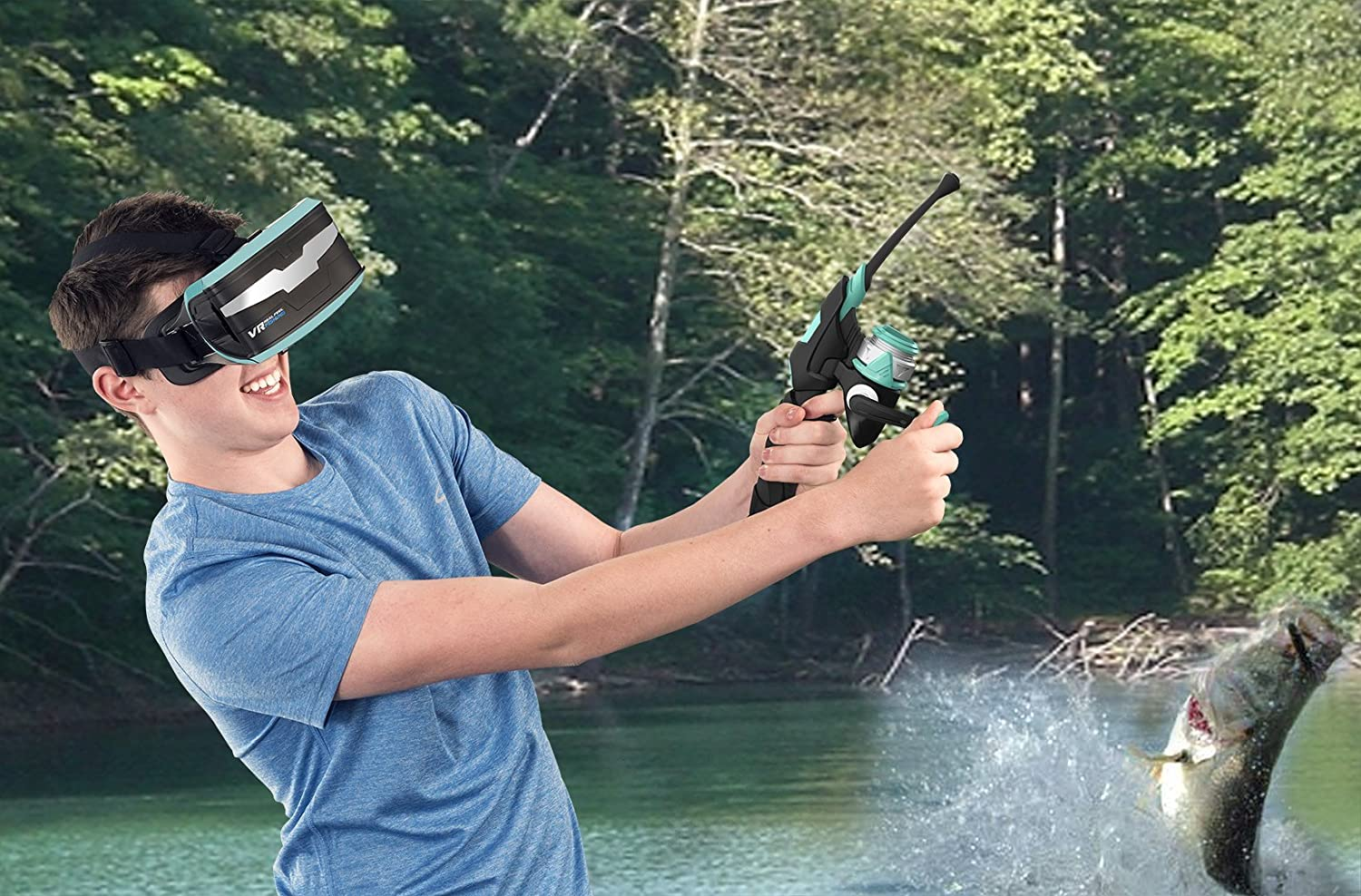VR Entertainment VR Real Feel Fishing Mobile VR Gaming