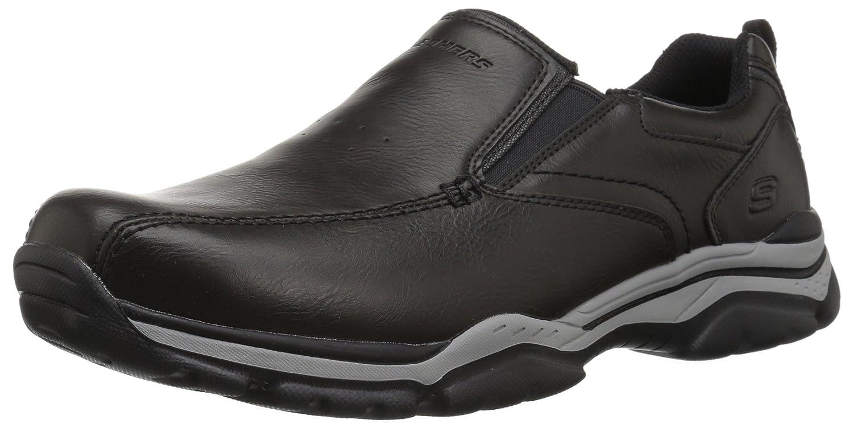 Skechers Rovato-Venten, Mocasines para Hombre 40 EU|Negro (Black)