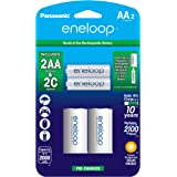 Panasonic K-KJS2MCA2BA eneloop C Size Battery Adapters with eneloop AA 2100 Cycle Ni-MH Pre-Charged Rechargeable…