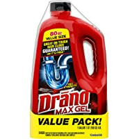 Drano Max Gel Clog Remover, 80 fl oz (2 ct)