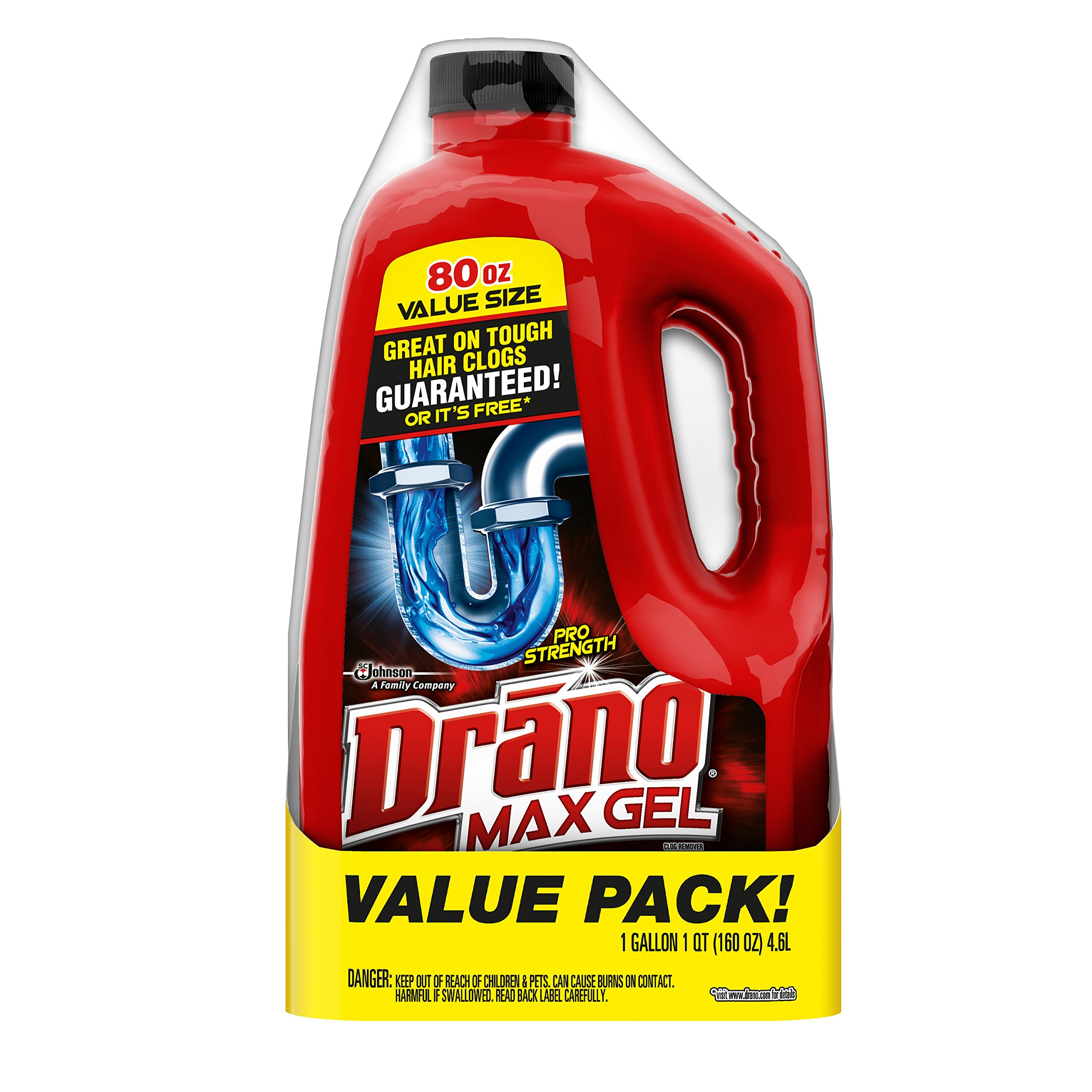 Drano Max Clog Remover Twin Pack, 160 Ounce by Drano