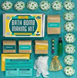 Bath Bomb Making Kit with 100% Pure Therapeutic Grade Essential Oils, (Makes 12 DIY Lush Cupcake Mold Bath Bombs), Gift Box Included