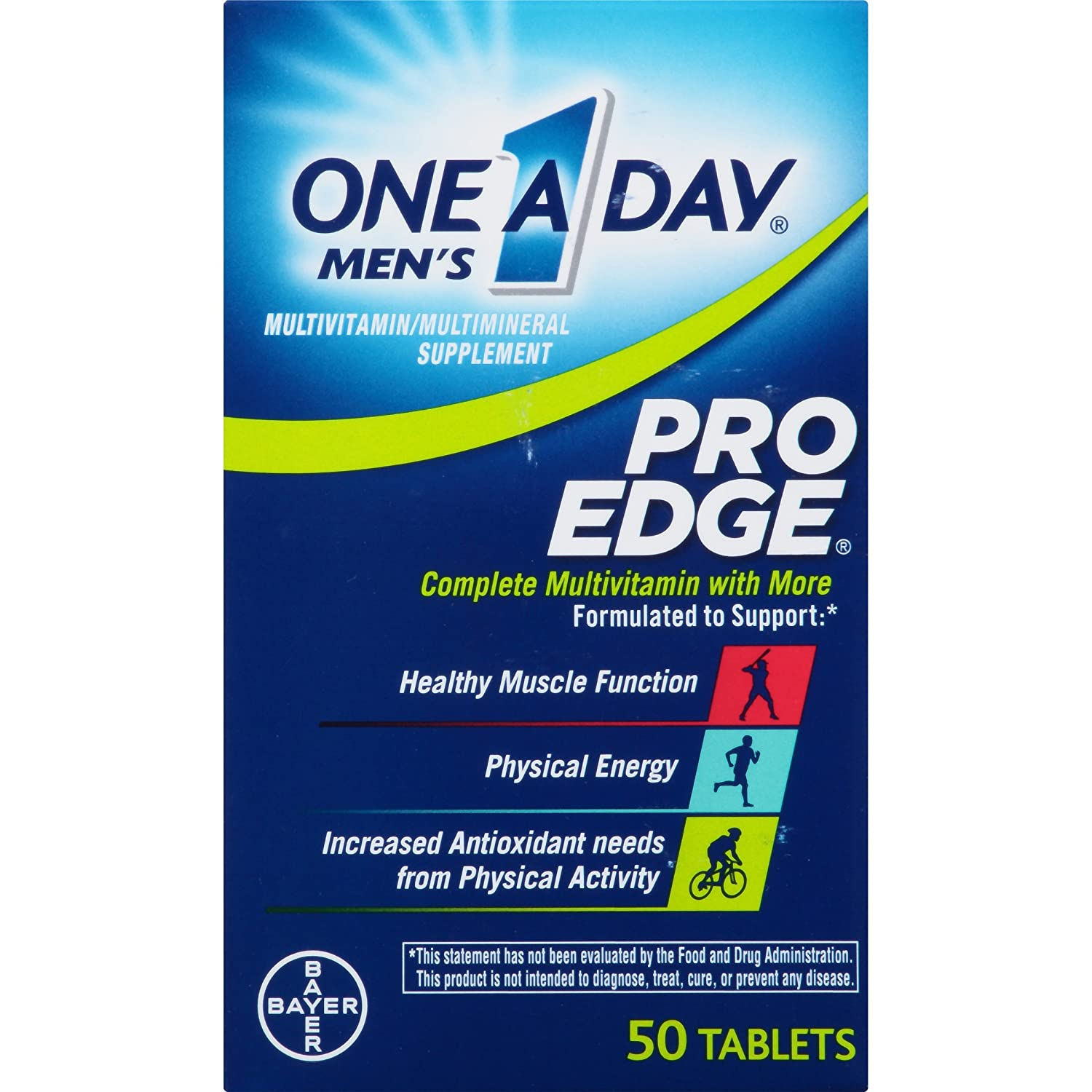 Amazon.com: One-A-Day Mens Pro Edge Multivitamin, 50-tablet Bottle (50-tablet Bottle(2 bottle)): Health & Personal Care