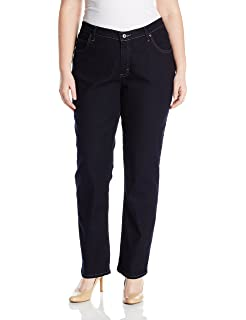 8eb51f1c1a3 Riders by Lee Indigo Women s Plus-Size Fit No-Gap Waistband Straight ...