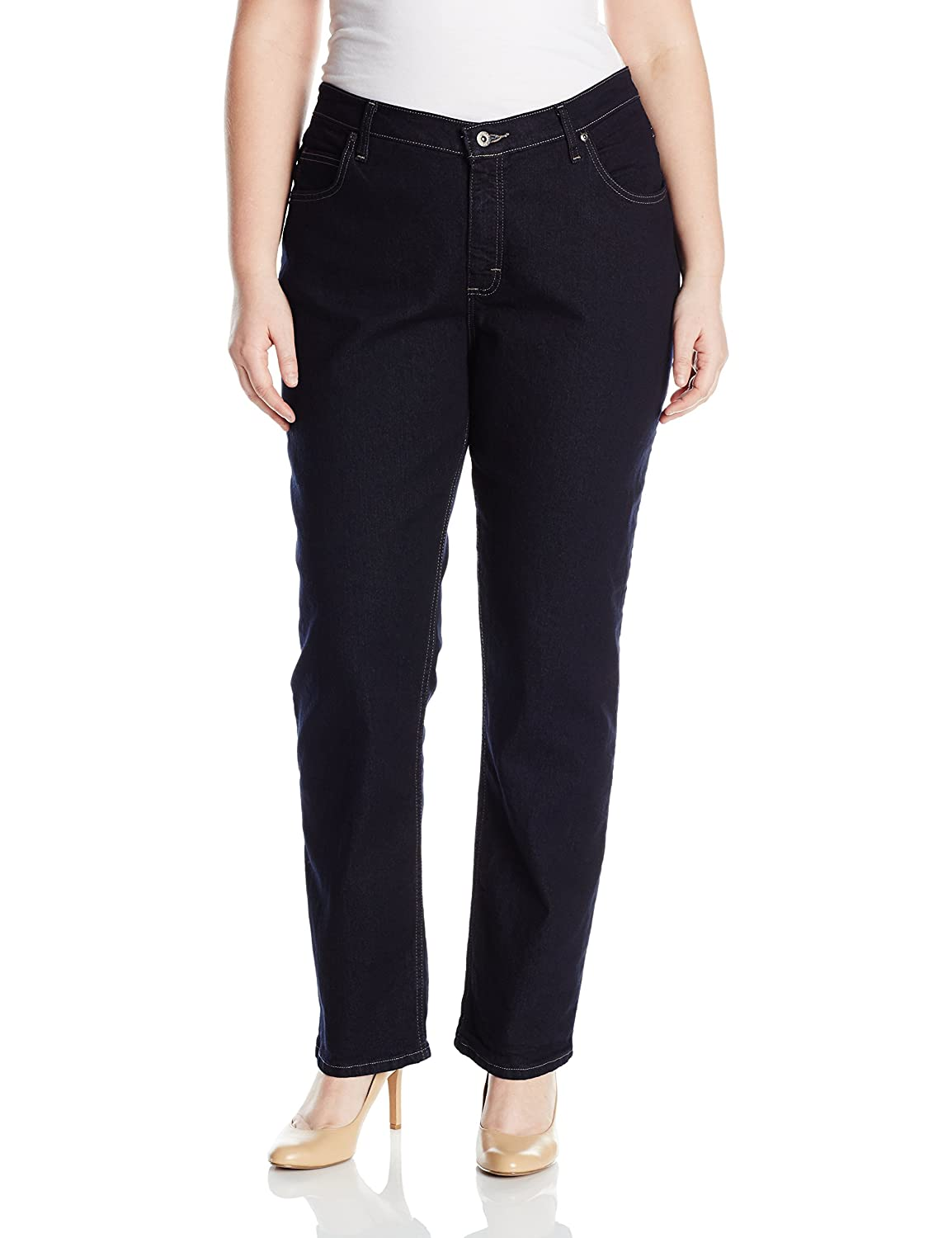bfb7a648 Riders by Lee Indigo Women's Plus Size Joanna Classic 5 Pocket Jean at  Amazon Women's Clothing store: