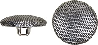 product image for C&C Metal Products 5052 Beaded Pattern Dome Metal Button, Size 45 Ligne, Antique Nickel, 36-Pack