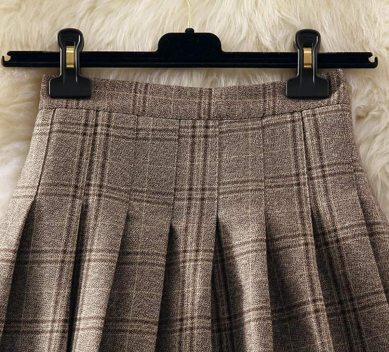 Arrival Autumn Winter Gray Plaid Skirts Shorts Womens Pleated Skirt Short Punk Skirt Short