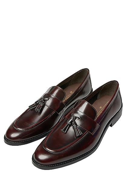 Next Hombre Mocasines Muy Brillantes con borlas Borgoña EU 41: Amazon.es: Zapatos y complementos