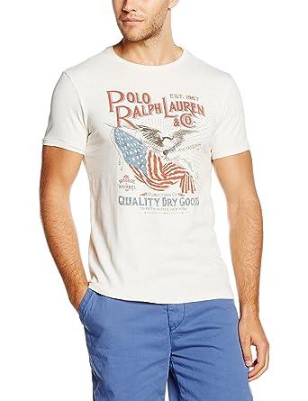 Polo Ralph Lauren SS CN M5, Camiseta para Hombre, Blanco (DECKWASH ...