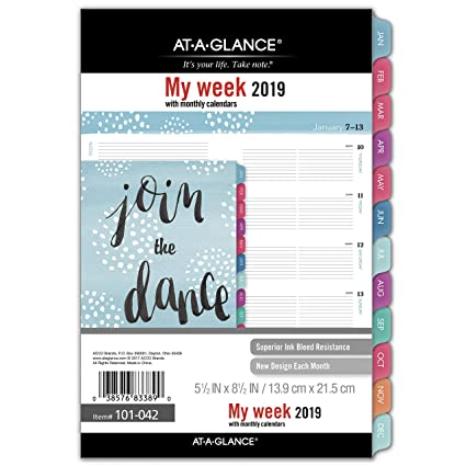 Amazon.com : AT-A-GLANCE 2019 Weekly & Monthly Planner ...