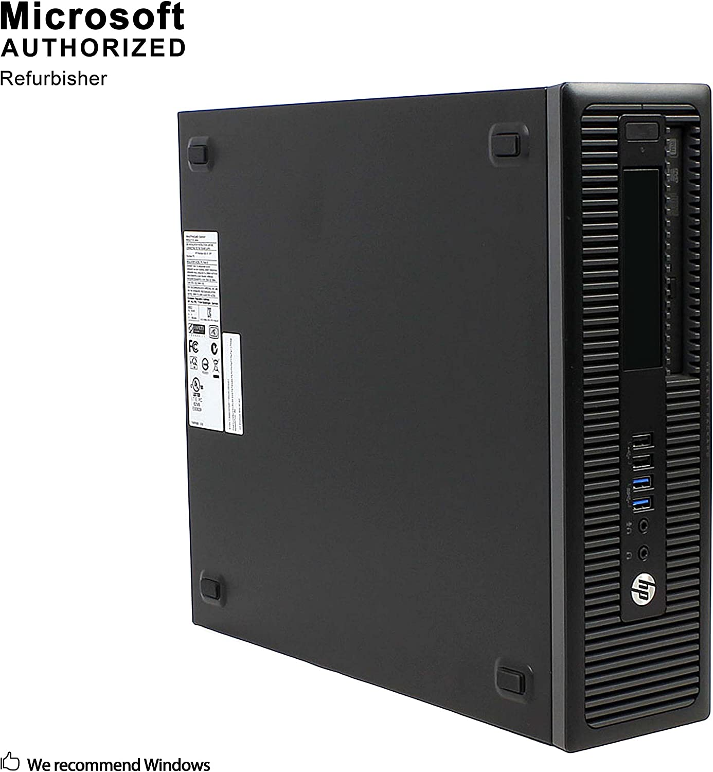 HP ProDesk 600 G2 Small Form Factor PC, Intel Quad Core i7-6700 up to 4.0GHz, 16G DDR4, 1T SSD, WiFi, Bluetooth 4.0, DVDRW, Windows 10 64-Multi-Language Support English/Spanish/French (Renewed)