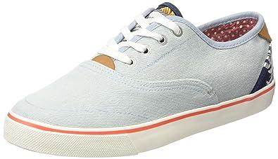 Icon Slip on Canvas, Damen Sneakers, Blau (385 Blue Tropical), 36 EU Wrangler
