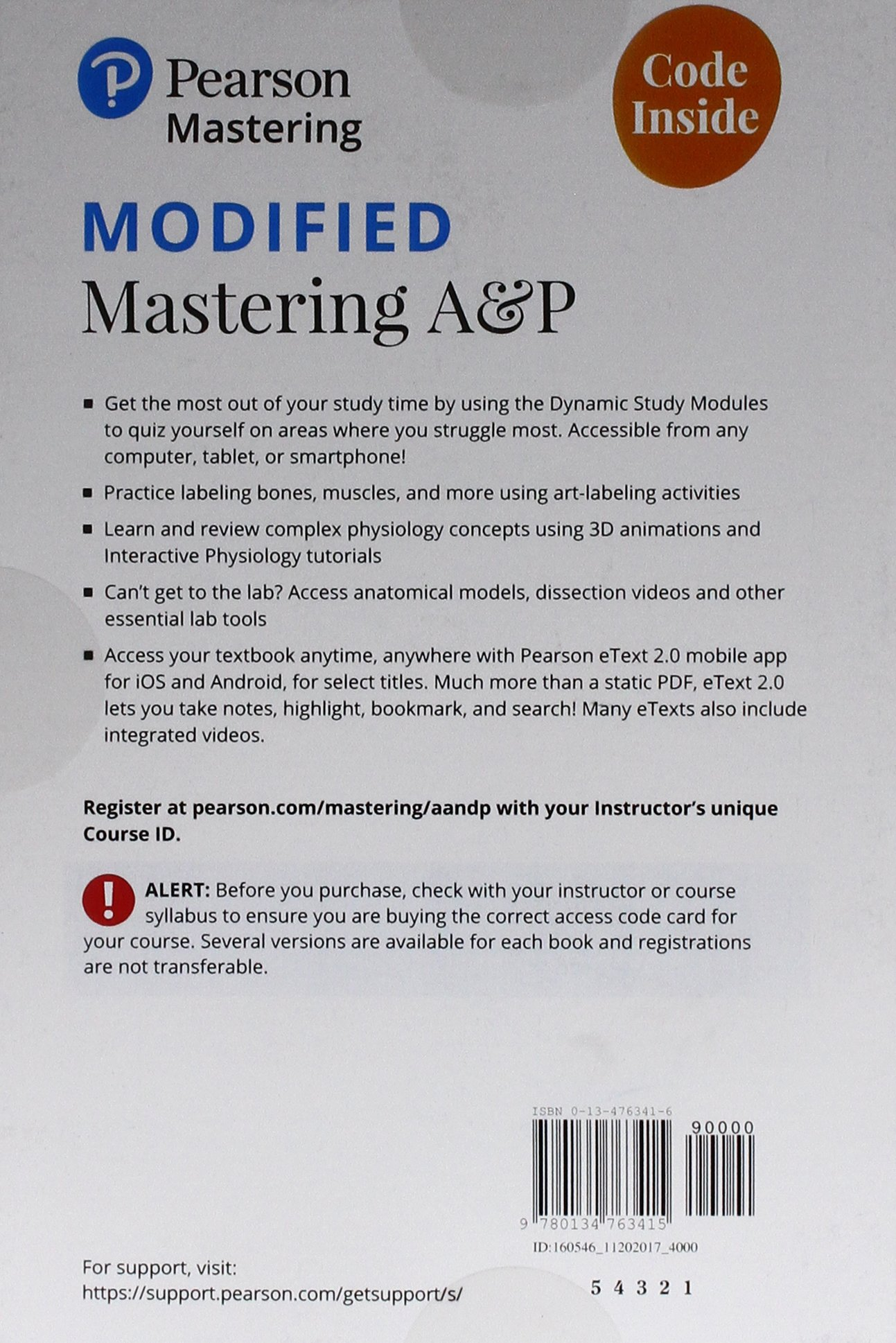 Buy Human Anatomy Physiology Modified Mastering Ap With Pearson