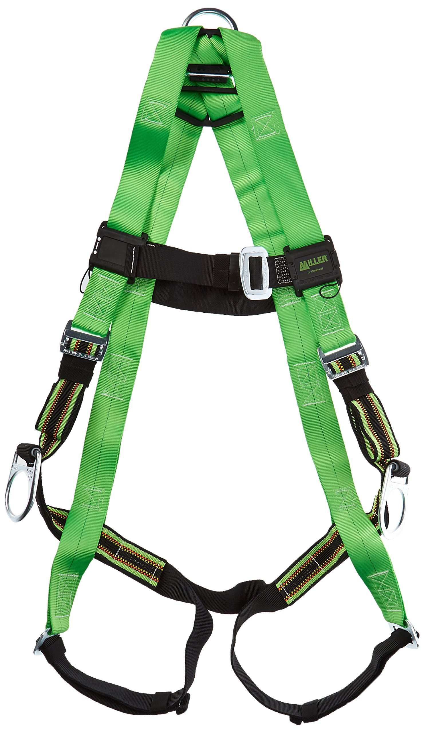 Miller by Honeywell P950-7/UGN Duraflex Python Full-Body Ultra Harness with Mating Buckle Leg Straps, Universal, Green by Honeywell