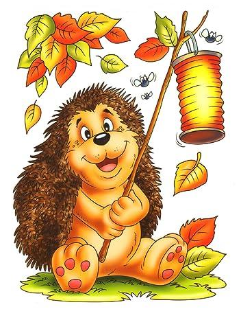 Fensterbilder kuche - Herbstblatter deko ...