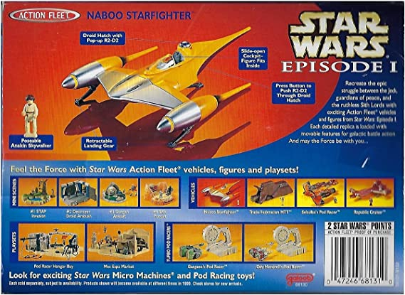 Star Wars Action Fleet EPISODE 1 NABOO N1 Starfighter avec Anakin Pilote Figure