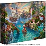 Thomas Kinkade Disney Peter Pan's Never Land 8 x 10 Gallery Wrapped Canvas